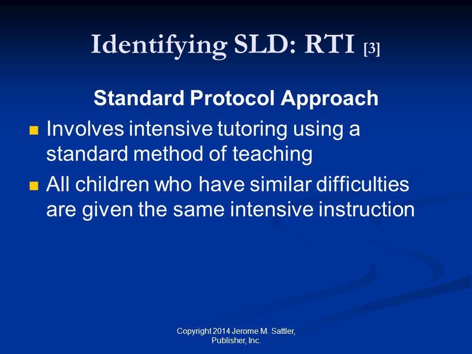 Identifying SLD: RTI [3]